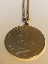 CHARLES & LADY DIANA ROYAL WEDDING 1981 COMMEMORATIVE MEDALLION NECKLACE COIN