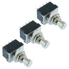 3 x Latching On-On Foot Switch 4PDT Guitar Effects Pedal Stomp Box