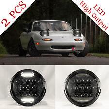 "NA MIATA Headlights (Pair) Mazda MX-5 MX5 LED 7"" Plug N' Play Splatter NEW"