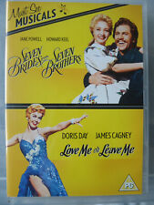 * 7 BRIDES FOR SEVEN BROTHERS / LOVE ME OR LEAVE ME (WB UK 2xDVD 2012) AS NEW!