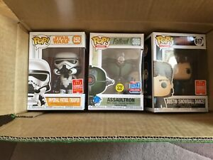 Star Wars, Fallout, Stranger Things Funko Pop Lot 2018 Exclusive Rare New SDCC