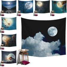 Night Sky Moon Tapestry Bedspread Art Wall Hanging Beach Towel Room Decoration