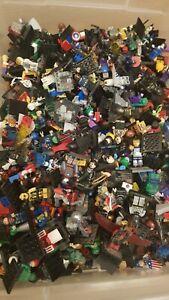 Minifigures joblot mini figures 50  Star Wars Superheros, films, TV, ect Lego #1