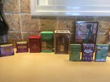 10 Empty Metal tin boxes, tin jars, empty tins, rectangular boxes storage