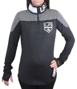 Los Angeles Kings Women's NHL Reebok 1/4 Zip Performance Pullover Jacket