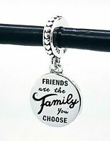 Authentic Pandora Friends Are Family Dangle 798124EN16 Pendant Charm S925 ALE