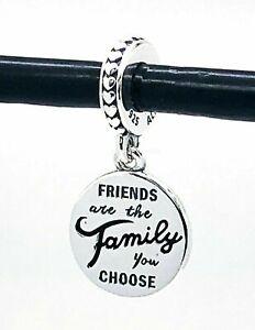 Authentic Pandora Friends Are Family Dangle 798124EN16 Pendant Charm S925 ALE
