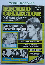 RECORD COLLECTOR MAGAZINE - Issue 75 November 1985 - David Bowie / Madonna