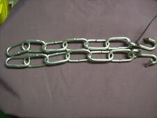 Tug adaptor slotted traces tugs to heel chain 6 link stainless steel