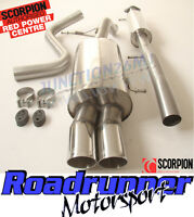 "Scorpion Fiesta ST180 ST200 2.5"" Stainless Exhaust Cat Back System Twin SFD073"