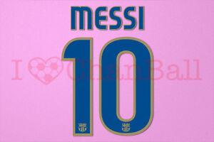 Messi #10 2008-2010 Barcelona Awaykit Nameset Printing