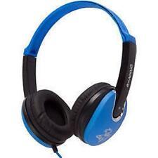 Groov-e Kids DJ Style Full Ear Stereo Headphones Blue