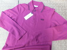 NEW HUGO BOSS BABY CHILD CHILDREN BOYS PINK LONG SLEEVE COTTON POLO SUIT T-SHIRT