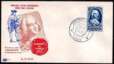 FRANCE FDC - 1953 14 JOURNEE DU TIMBRE - LYON