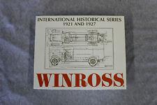 Winross International Harvester 1921 Model S Speed toy truck NIB