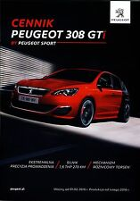 Peugeot 308 GTi 02 / 2016 catalogue brochure