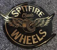 Spitfire Wheels Classic Foil Sticker Gold Anti Hero Thrasher Krooked FA DGK Real