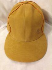 Timberland Leather Cream Colored Leather Logo Hat Cap 7 3/4 Streetwear
