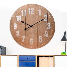 Orologio da Parete Design Moderno Stampa Effetto Legno Diametro 60cm 3 Colori