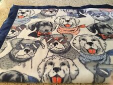 Handmade plush fleece pet blanket/throw, cool dogs!