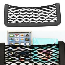 Universal Car Seat Side Back Net Storage Bag Phone Holder Pocket Organizer Black