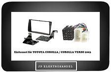 Einbaurahmen 2DIN + ISO Adapter TOYOTA COROLLA / COROLLA VERSO 2003 -> Einbauset