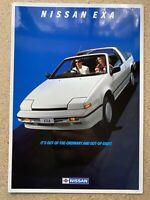 1988 Nissan Exa original Australian sales brochure (1/88 - 2)