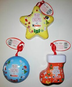 KINDER MIX - SCATOLINE IN LATTA APPENDIBILI ALL'ALBERO DI NATALE - FERRERO 2020