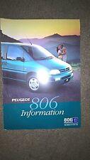Peugeot 806 sales brouchure, June 1996