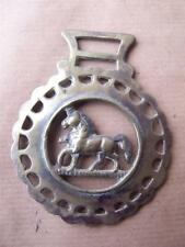 Horse Brass Horse  3 inches wide x 3.75 inches Deep
