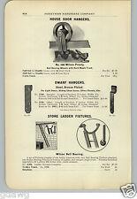 1906 PAPER AD Wilcox Rolling Store Ladder Hardware Prouty Door Hanger