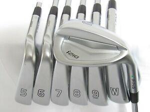 Used RH Ping i210 Green Dot Iron Set 5-W,U Extra Stiff Flex Steel Shafts