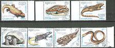 Cambodia, 1967, Sc# 805-811, Reptiles & Amphibians, full set, CTONH