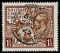 SG433, 1925 1½d brown, FINE USED, CDS. Cat £70.