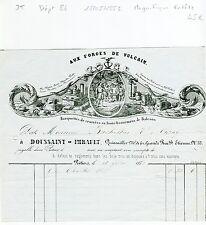 Dépt 86 - Poitiers - Top Déco Magnifique Entête Aux Forges de Vulcain 18/05/1852