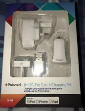 Polaroid 1 M 30 Pin 3 en 1 Ipod, Iphone Y Ipad Kit De Carga. nuevo