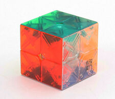 YJYP 2x2 Magic Cube Classic Twist Puzzle Fancy Toy Transparent Multi-color Gifts