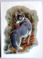 Ex libris Anxo Prado  rare o loup au loup signé Alien A.LI.EN