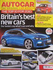 Autocar magazine 30/12/2009 featuring Toyota Land Cruiser road test