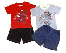 Baby boys t-shirt shorts ship ahoy printed design with appliqued boat set
