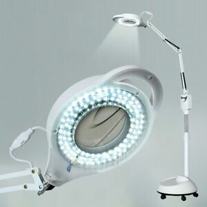 220V Beauty Salon LED Cold Light Magnifying Glass Nail Tattoo Floor Beauty Lamp