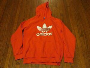 Boys' Adidas Originals Adicolor Trefoil Red Pullover Hoodie AB2195 sz XL 15-16