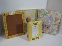 CR Gibson Baby Memory Book, Bear Photo Album, Natalini & connoisseur, Lot of 4