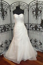 34 SINCERETY 3726 SZ 10 IVORY SILVER FORMAL WEDDING GOWN DRESS