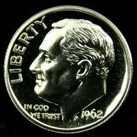 1962 Proof 90% Silver Roosevelt Dime Gem Brilliant Uncirculated