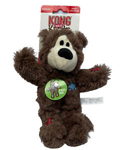 Kong Wild Knots Bear Dog Toy Dark Brown Internal Knotted Rope Skeleton S/M