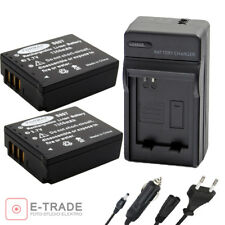 CGA-S007 Battery / Car Wall Charger For Panasonic LUMIX DMC TZ1BS TZ2 DMC-TZ3