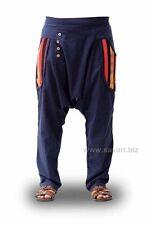 Pantalones Étnicos Hippies Cagados bolsillos cintura elástica