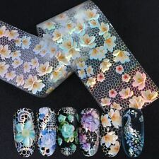 Lace Nail Art Transfer Foil 16pc Holographic Flower Sticker Decal Decor Manicure