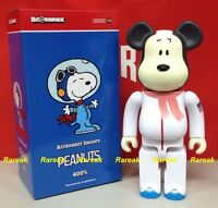Medicom Be@rbrick 2015 The Peanuts Comic 400% Snoopy Astronauts Bearbrick 1pc